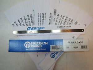 Lot Of 36 Precision Brand 19334 High Carbon Steel 0 008 X 12 Feeler Gauges New