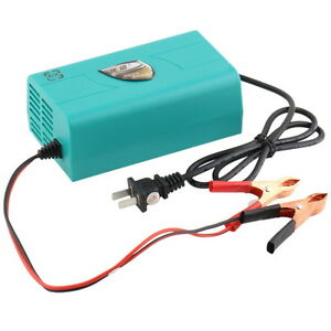 12v Battery Automatic Charger Motorcycle Car Boat Marine Maintainer Trickle Sw