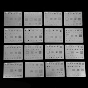 16pcs Ic Chip Bga Reballing Stencil Kits Set Solder Template For Iphone Highq
