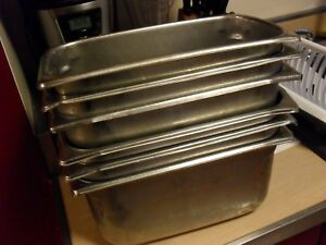 6 Pack 1 3 Size Stainless Steel Steam Prep Table Commercial Food Pan 6 Deep