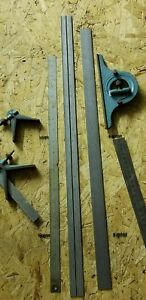 Some Starrett Parts Center Protractor Rule Metal Combination Ruler Machinist 334