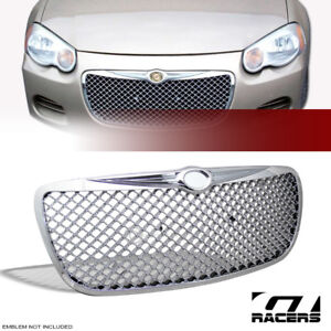 For 2004 2006 Chrysler Sebring Chrome Luxury Mesh Front Bumper Grill Grille Abs