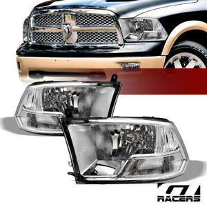 Dual Lamps For 2009 2018 Dodge Ram Factory Style Chrome Clear Headlights Pair Nb