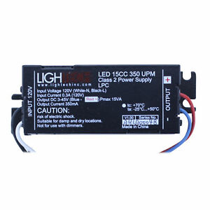Lightech Led 15 Dc 350ma Upm Led 15cc 350 Upm 120v 15w Non dimmable Led Driver