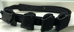 Safariland Tactical Duty Police Belt With 4 Magazine Holders Must See