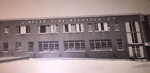 Vintage Framed Picture Simplex Time Recorder Co Factory Offices