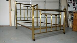 Antique Art Bedstead Co Chicago Victorian Iron Brass Bed Full Size We Ship