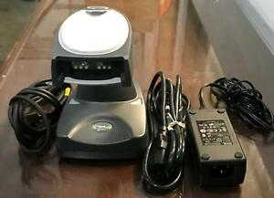 Honeywell E153740 4820 Adaptus Barcode Scanner W charger Ac Adapter cable G2