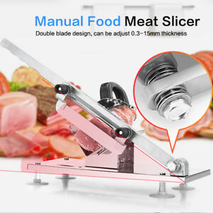 1pc Meat Slicer manual Frozen Cutter Beef Mutton Sheet Slicing Machine Stainless