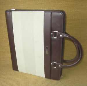 Monarch folio 1 25 Rings Brown Sim Leather Day runner timer Planner binder