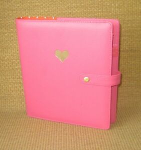 Classic Gold Heart Pink Sim Leather The Happy Planner Cover Polka Dots Nice