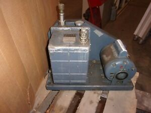Welch 1402 Duo seal Vacuum Pump With 1 2 Hp Marathon Motor
