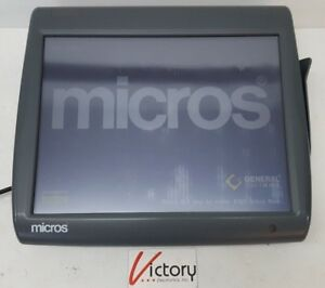 Used Micros Workstation 5 System Unit 400814 001 touch Screen w windows v 13