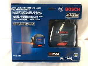 New Bosch Gcl 2 55 40 Ft Self leveling Cross line Laser Level With Plumb Points