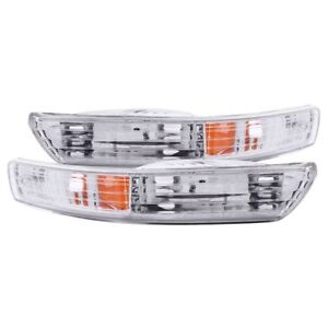 Anzo Usa Clear Lens Front Bumper Turn Signal Light Set Acura Integra 511021