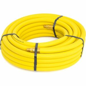 Goodyear Air Hose 12912 Yellow Rubber Air Hose 1 4 Solid Brass End Fittings 50 X