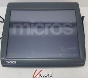 Used Micros Workstation 5 System Unit 400814 001 touch Screen w windows v 20