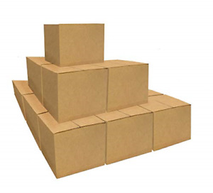 Small Size Corrugated Cardboard Boxes 30 Pack 16 X 10 X 10 Heavy duty Box For