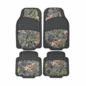 Bdk Camouflage 4 Piece All Weather Waterproof Rubber Car Floor Mats Fit Mos