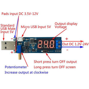 Dc dc 5v To 3 3v 9v 12v 24v Usb Step Up down Power Module Boost Buck Converter