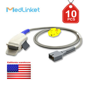 Med linket Covidien Nellcor Compatible Short Spo2 Sensor Ds 100a 10pcs
