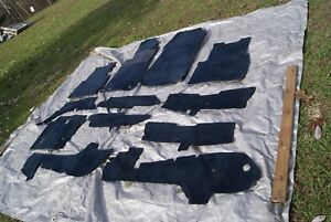 Mercedes W201 190e 190 E Blue Carpet Complete Set 12 Pieces Floor Mats Rugs 1987