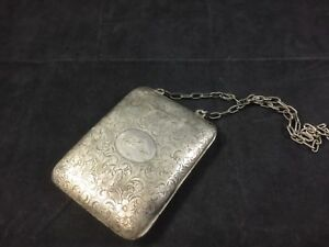 Vintage Sterling Silver Card Case Coin Purse