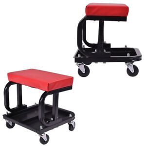 Auto Shop Work Roller Seat Mechanics Repair Tool Storage Tray Rolling Chair