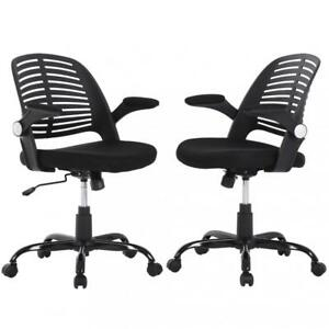 Ergonomic Office Chair Executive Computer Desk Chair Mesh Chair W arms Set Of 2