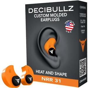Decibullz Custom Molded Earplugs Nrr 31db Hearing Protection Shooting Working