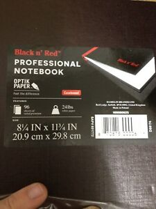 Black N Red Ruled Professional Notebook 6 Pack