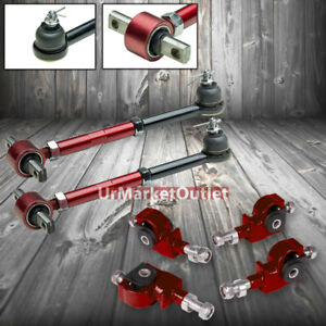 Red Front rear Suspension Camber Control adjuster Kit For Accord Cb cd Cl Tl
