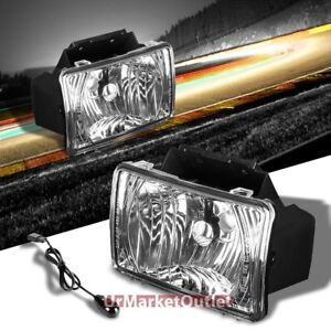 Clear Lens Front Bumper Fog Light Lamp bulb switch For 04 12 Colorado gmc Canyon