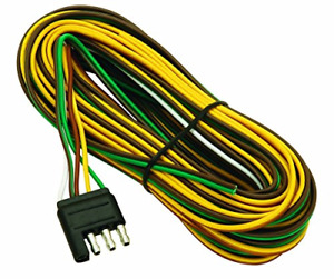 Wesbar 707261 Wishbone Style Trailer Wiring Harness With 4 Flat Connector