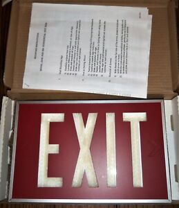 Isolite 2040 01 Red Exit Sign Self luminous Wall Mount Bracket Emergency