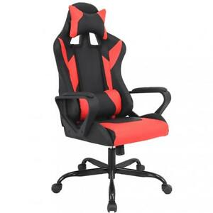 Gaming Chair Racing Chair Office Chair Ergonomic High back Leather Chair W Arms