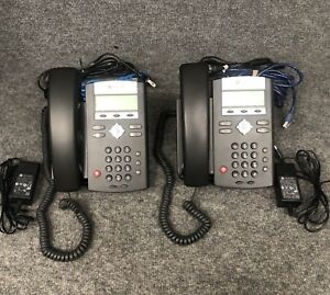 Set Of 2 Polycom Soundpoint Ip 331 Voip Business Phones W Base