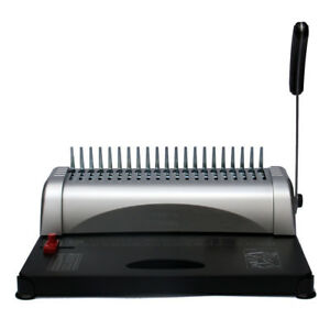 21 Hole 450 Sheet Comb Binding Machine Paper Punch Binder W 200 Rubber Gasket