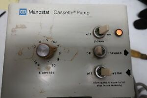 Manostat Cassette Pump With 7 Cassettes And Spare Parts With Manual