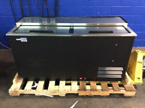 Blendport Bpr jbc 65 2 Section Slide Top Back Bar Cooler Refrigerator