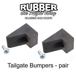 1964 1979 Ford Truck Bronco Tailgate Bumpers Pair