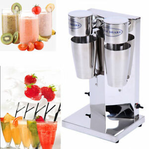 Commercial Milkshake Smoothie Maker Shaker Blender Mixer Machine Double cup