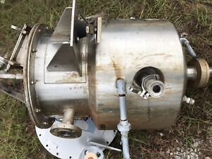 15 Gallon Jacketed 316 Ss Vessel Tank With Cone Bottom Center Outlet Lab Type