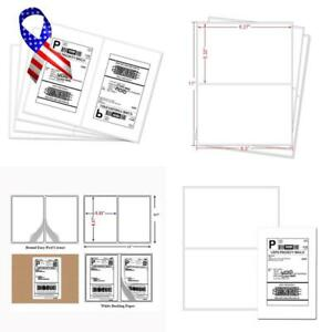 Half Sheet Laser Inkjet Rounded Corner Shipping Address Labels 5 1 2 X 8