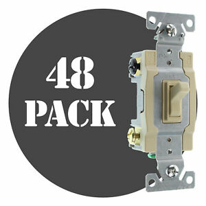 Hubbell Rs415iz Spec Grade Toggle Switch 4 way 15a 120 277v Ivory 48 pack