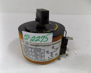 Superior Electric Powerstat Variable Transformer 10c
