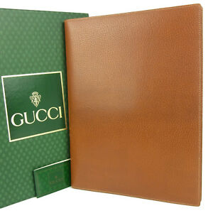 Auth Gucci Leather Memo Pad Note Holder Case W box F s 2430