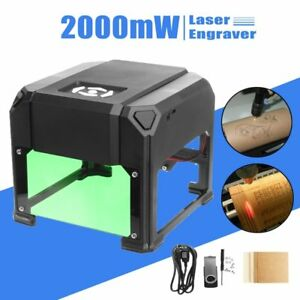 Desktop Cnc Mini Laser Engraver Usb Router Machine 2000mw Diy Logo Axis Wood