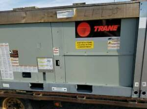 Trane 5 Ton Gas Electric Gbc060a3ema Foundation Commercial Rooftop New