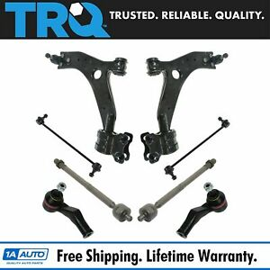 Control Arms Ball Joints Sway Links Tie Rods Steering Suspension Kit 8pc New